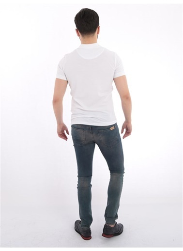 Rodrigo Erkek Düz Polo Yaka T-shirt Beyaz Beyaz
